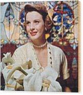 Jean Peters, 1950s Portrait Wood Print by Everett