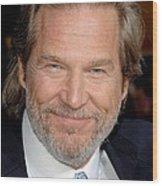 Jeff Bridges At Arrivals For Premiere Wood Print