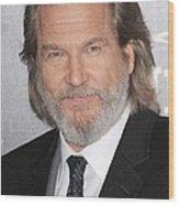 Jeff Bridges At Arrivals For True Grit Wood Print