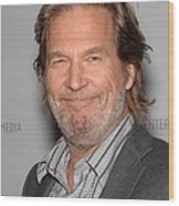 Jeff Bridges In Attendance For American Wood Print by Everett