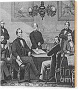 Jefferson Davis, Cabinet Wood Print by Photo Researchers