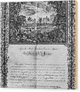 Jefferson: Degree, 1820 Wood Print