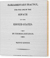 Jefferson: Title Page, 1810 Wood Print by Granger