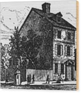 Jeffersons House, 1776 Wood Print