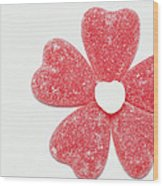 Jelly Candy Heart Flower 1 Wood Print