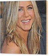 Jennifer Aniston At Arrivals For Just Wood Print by Everett