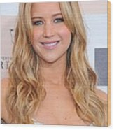 Jennifer Lawrence At Arrivals For 2011 Wood Print