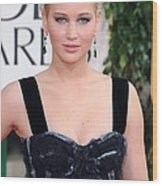 Jennifer Lawrence Wearing A Louis Wood Print