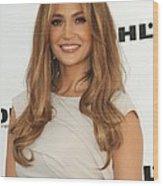 Jennifer Lopez Wearing A Gucci Dress Wood Print by Everett