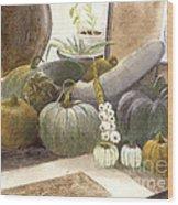 Jennifer's Pumpkins Wood Print