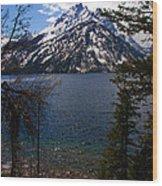 Jenny Lake In The Grand Teton Area Wood Print