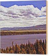 Jenny Lake Panorama Wood Print