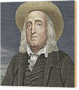 Jeremy Bentham, British Philosopher Wood Print by Sheila Terry
