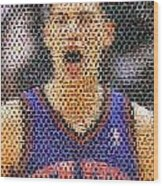 Jeremy Lin Mosaic Wood Print by Paul Van Scott