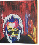 Jerry Garcia Wood Print