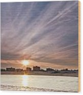 Jersey Shore Wildwood Crest Sunset Wood Print