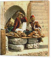 Jerusalem Bread Sellers 1895 Wood Print