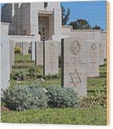 Jerusalem British War Cemetery Wood Print by Noam Armonn