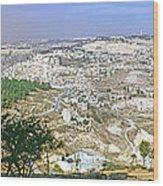 Jerusalem Panorama Wood Print