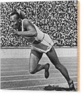 Jesse Owens (1913-1980) Wood Print by Granger