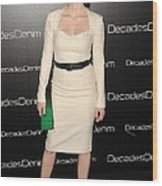 Jessica Chastain At Arrivals Wood Print