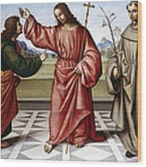 Jesus & Thomas Wood Print