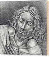 Jesus At Rest Wood Print