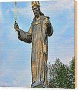 Jesus Christ Statue Wood Print