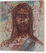 Jesus Christ Wood Print by Thomas Lentz
