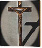 Jesus Crucified Wood Print