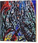 Jesus Meets Mary On Calvary Wood Print