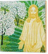 Jesus On Mount Thabor Wood Print