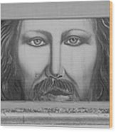 Jesus On The Street Wood Print