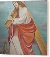 Jesus Wood Print by Prasenjit Dhar
