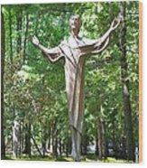 Jesus Statue Wood Print