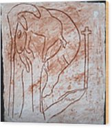 Jesus The Good Shepherd - Tile Wood Print