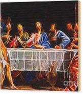Jesus The Last Supper Wood Print by Pamela Johnson