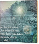 Jesus The Light Of The World Wood Print