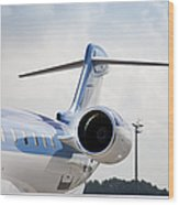 Jet Airplane Tail Wood Print