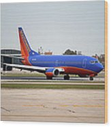 Jet Chicago Airplanes 11 Wood Print