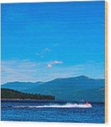 Jet Ski On Priest Lake Wood Print