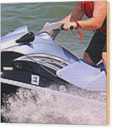 Jet Ski Speed Wood Print