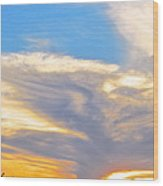 Jet Sunset Wood Print