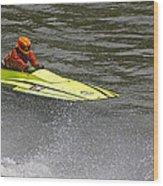 Jetboat In A Race At Grants Pass Boatnik Wood Print