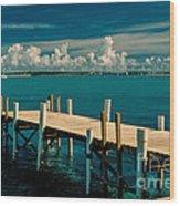 Jetty To Stocking Island Wood Print