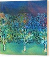 Jeweled Trees Wood Print