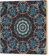 Jeweled Turquoise Wood Print