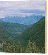 Jewell Basin- Mt Wood Print
