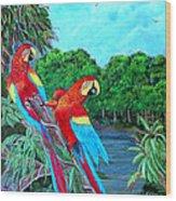 Jewels Of The Amazon Wood Print