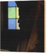 Jewish Man With Tallith And Tefillin Wood Print